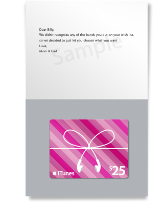 iTunes Gift Card - Occasions -Pink - $25