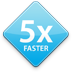 5x faster icon