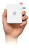 Hand holding Airport Express icon