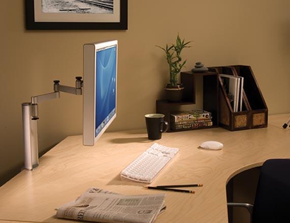Sanus SD115 FullMotion Desk Mount for LCD computer monitors Silver